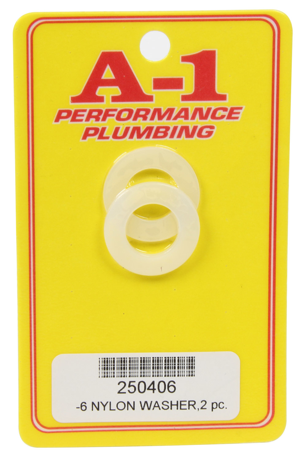 A-1 Products 250406 Sealing Washer, 6 AN, Nylon, Pair