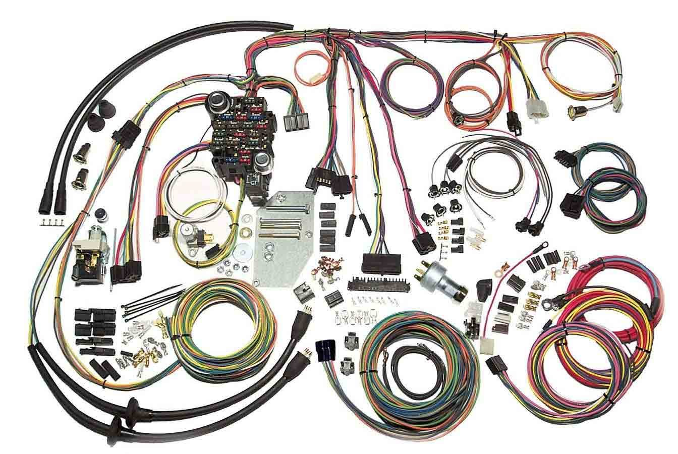 American Autowire 500423 Car Wiring Harness, Classic Update, Complete, Chevy Fullsize 1955-56, Kit