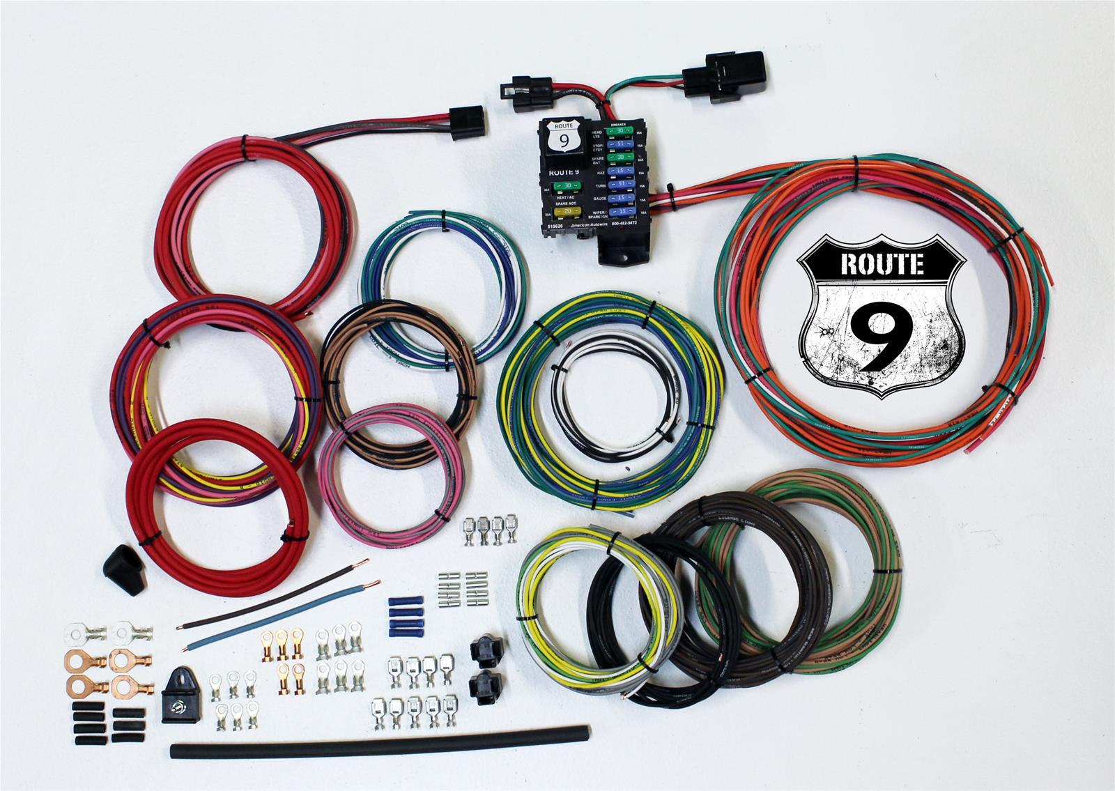 American Autowire 510625 Route 9 Universal Wiring Kit