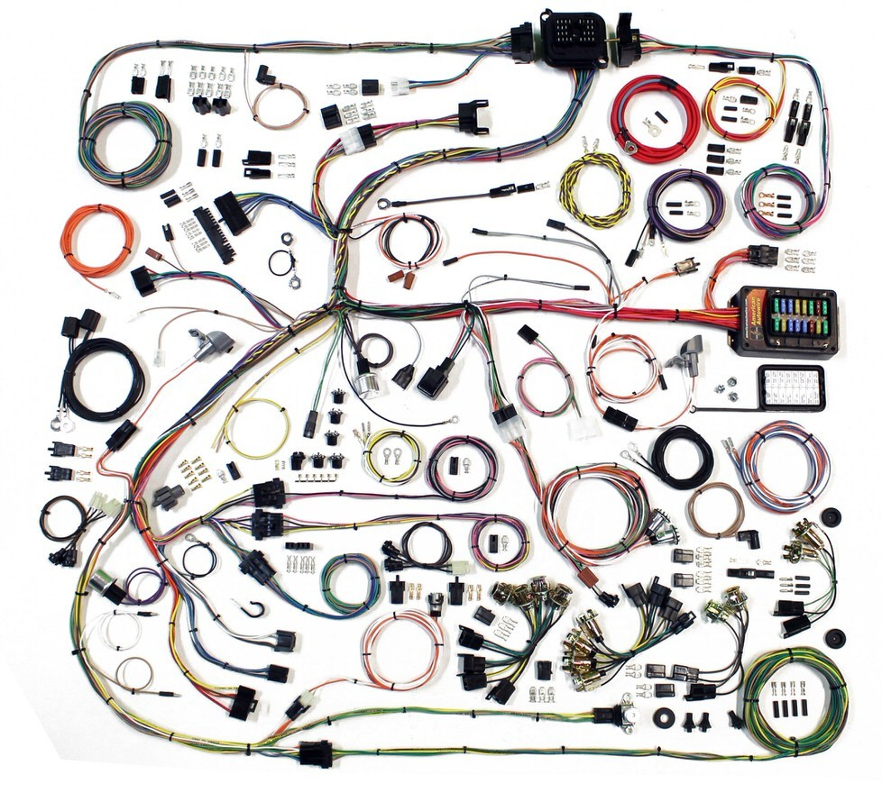 American Autowire 510634 Car Wiring Harness, Classic Update, Complete, Mopar B-Body 1968-70, Kit