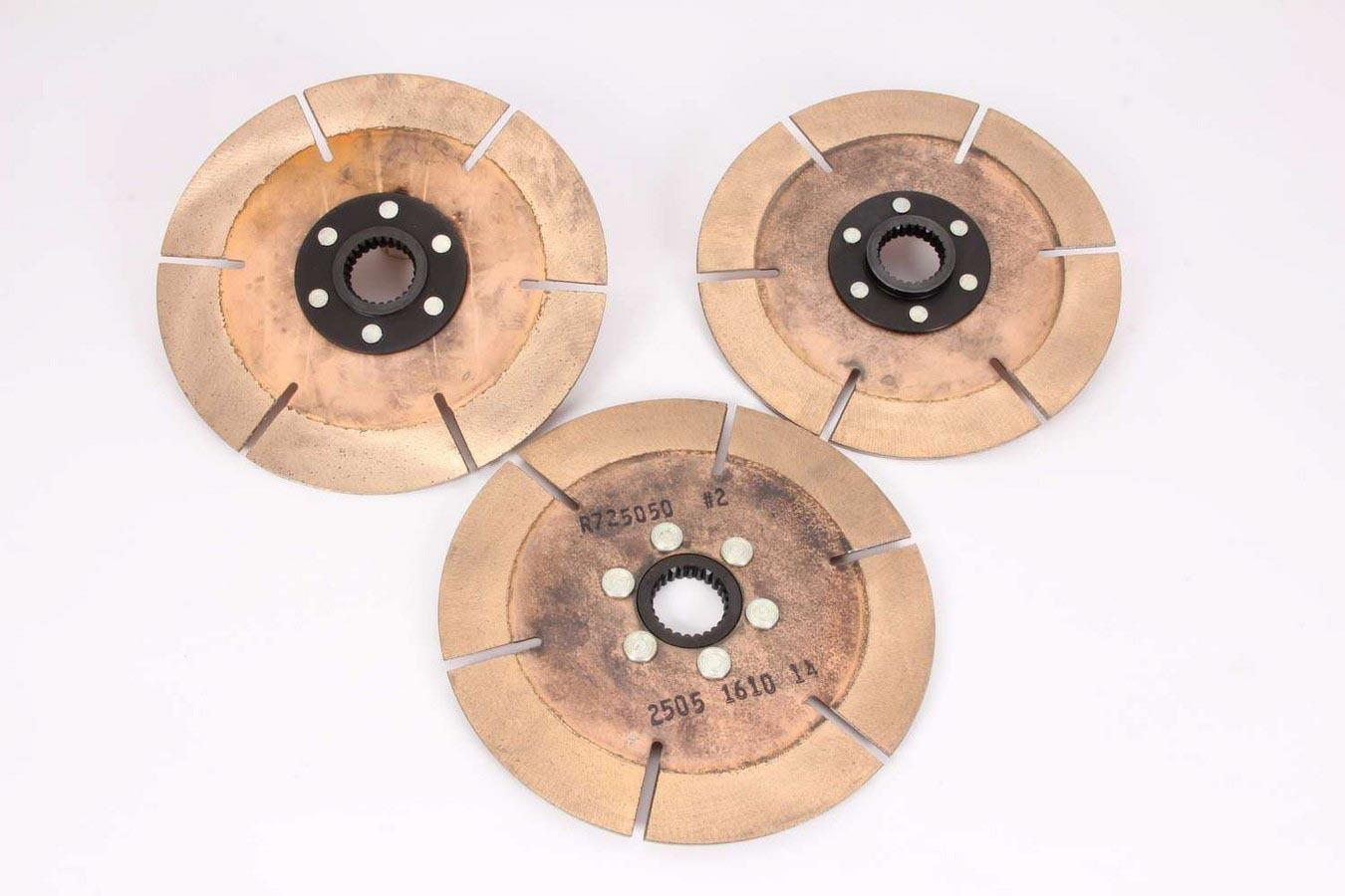 ACE Racing Clutches R725102K3 Clutch Disc, 7-1/4 in Diameter, 1-5/32 in x 26 Spline, Ceramic / Metallic, Universal, Set of 3