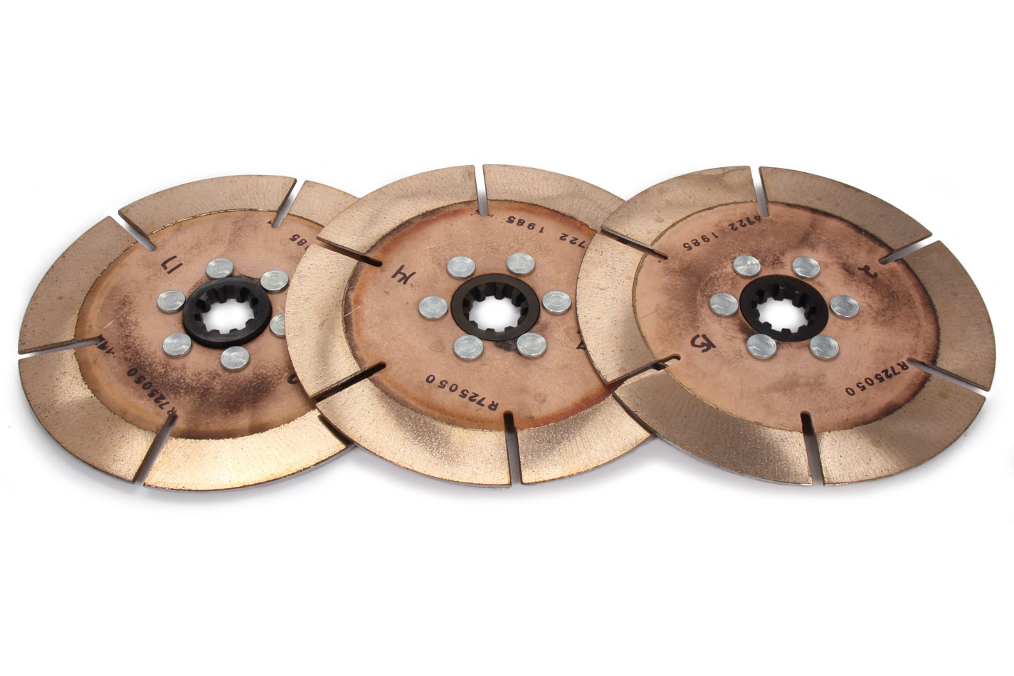 ACE Racing Clutches R725103K3 Clutch Disc, 7-1/4 in Diameter, 1-1/8 in x 10 Spline, Ceramic / Metallic, Universal, Set of 3