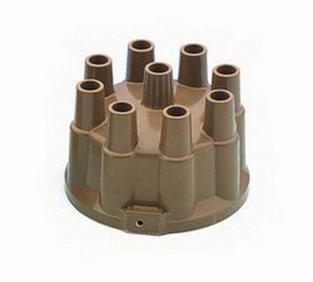 Accel 120123 Distributor Cap, Socket Style Terminals, Brass Terminals, Clamp Down, Tan, Non-Vented, Chevy V8, Each