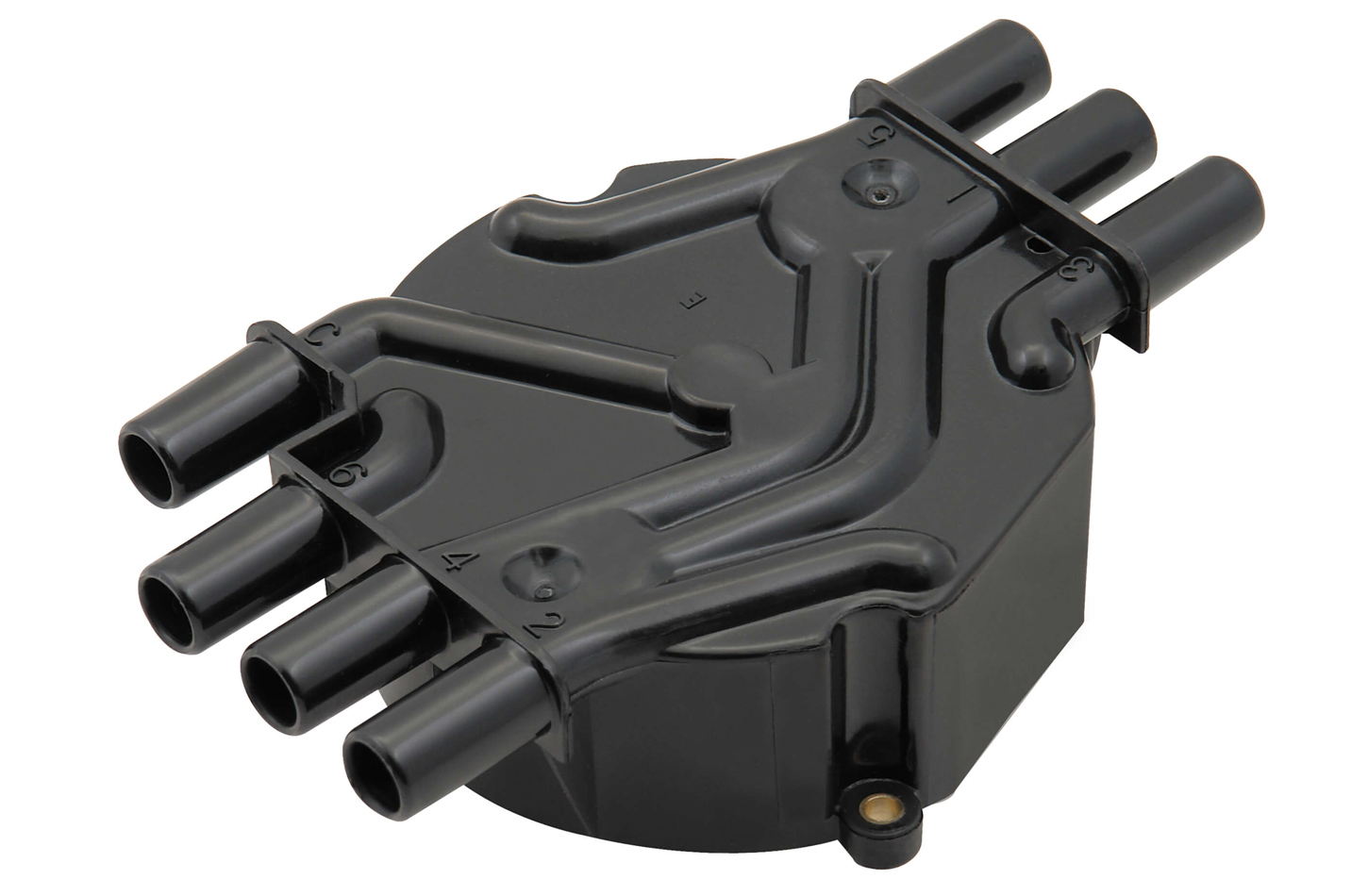Accel 120142 Distributor Cap, Crab Style, Socket Style Terminals, Brass Terminals, Screw Down, Black, Non-Vented, Chevy V6, Each