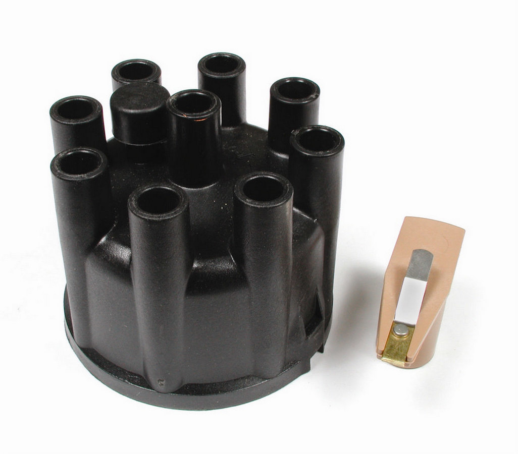 Accel 8321 Cap and Rotor Kit, Socket Style, Brass Terminals, Clamp Down, Black, Vented, Mopar V8, Kit