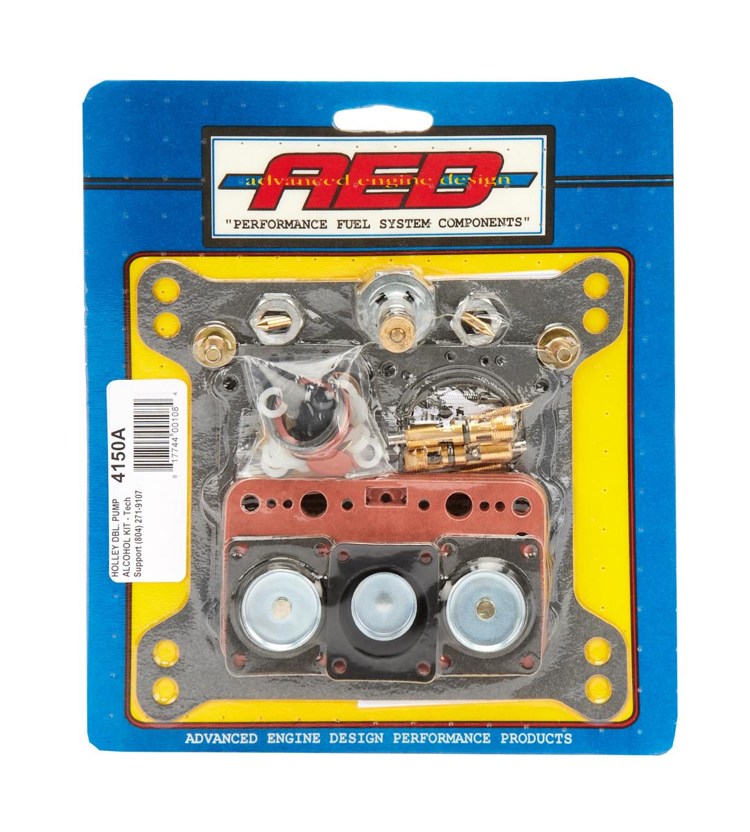 AED Performance 4150A Carburetor Rebuild Kit, Performance Alky, Holley 4150 Carburetors, Gas / Alcohol, Kit