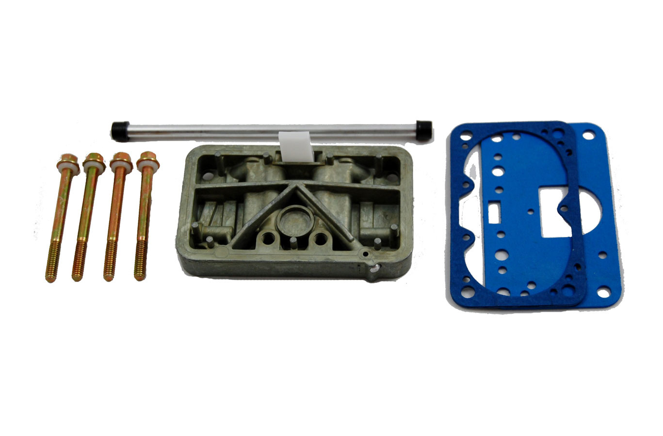 AED Performance 6300 Metering Block, Conversion to Main Jets, Gaskets / Screws, Aluminum, Chromate, Holley 4160 Carburetors, Kit