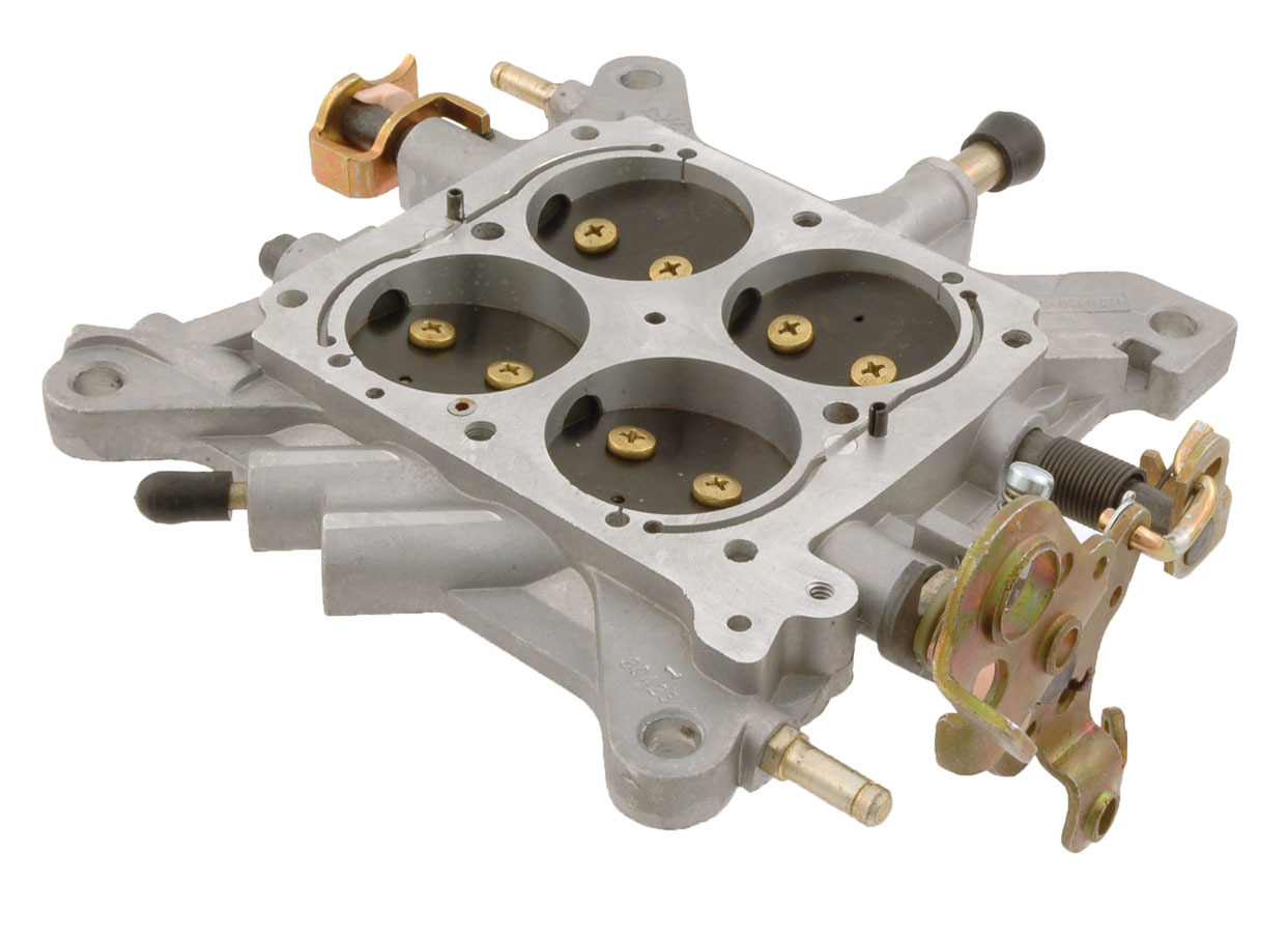 AED Performance 6460 Carburetor Base Plate, Complete, Aluminum, Natural, Holley 4150 Carburetor, Each