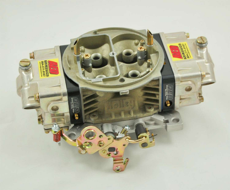 AED 650HO-BK Carburetor, HO Series, 4-Barrel, 650 CFM, Square Bore, No Choke, Mechanical Secondary, Dual Inlet, Black Anodized / Chromate, Each
