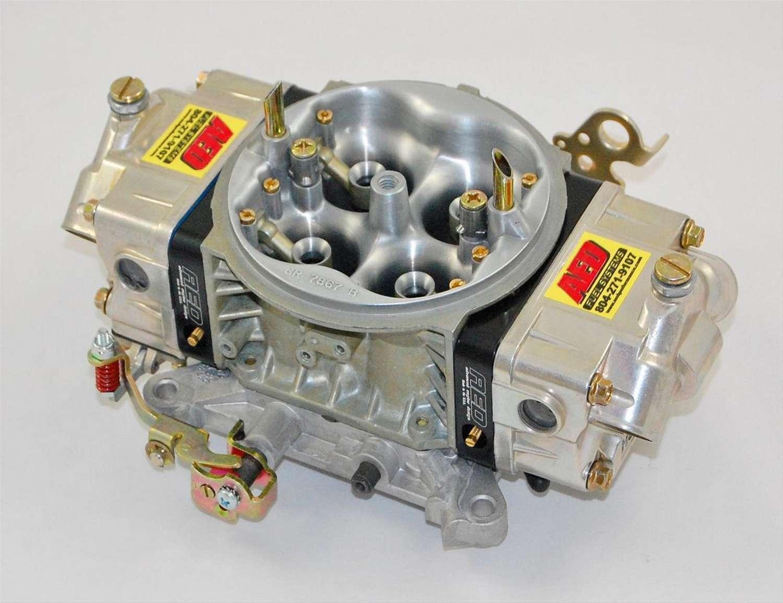 AED 950HOM-BK Carburetor, HO Modified, 4-Barrel, 950 CFM, Square Bore, No Choke, Mechanical Secondary, Dual Inlet, Black Anodized / Chromate, Each