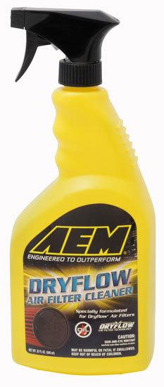 AEM 1-1000 Air Filter Cleaner, Dryflow, 32 oz Spray Bottle, Each