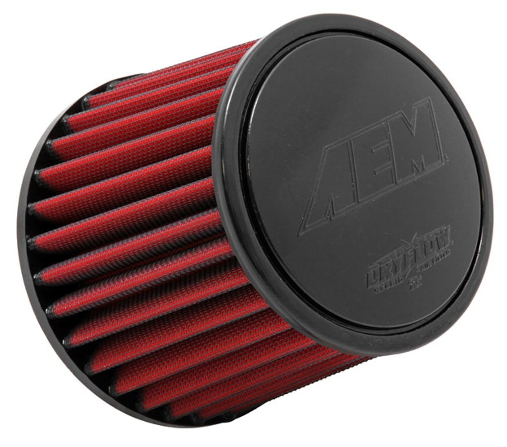 AEM 21-205DK Air Filter Element, Clamp-On, Conical, 6 in Base, 5-1/8 in Top Diameter, 5-1/4 in Tall, 4 in Flange, Non-Woven Synthetic, Universal, Each
