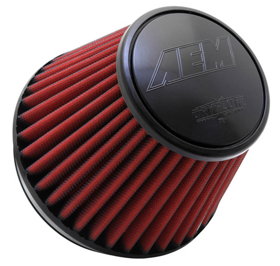 AEM 21-209EDK Air Filter Element, Dryflow, Clamp-On, Conical, 7-1/2 in Base, 5-1/8 in Top Diameter, 5 in Tall, 6 in Flange, Synthetic, Universal, Each