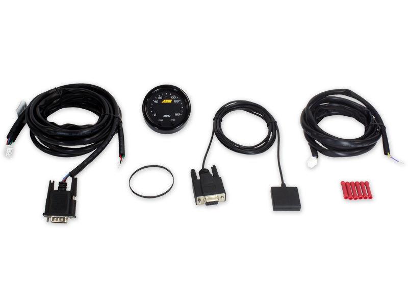 AEM 30-0313 Speedometer, X-Series, 160 MPH, Electric, Digital, 2-1/16 in Diameter, GPS tracking, Black Face, Each