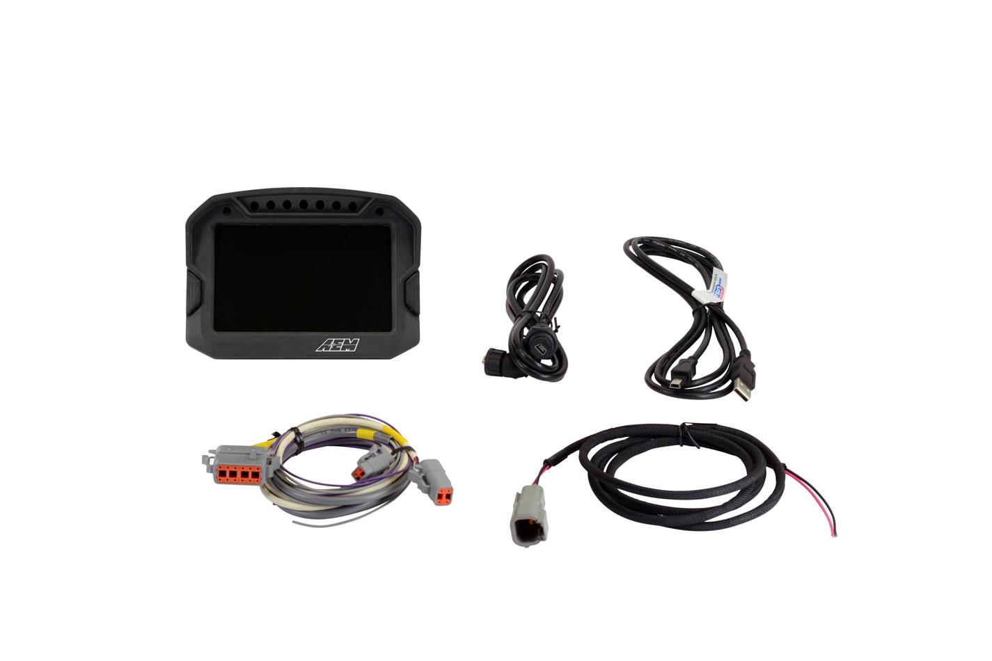 AEM 30-5601 Digital Dash, CD-5L Carbon, DTM Style, Connectors Included, Logging Display, Black, Each