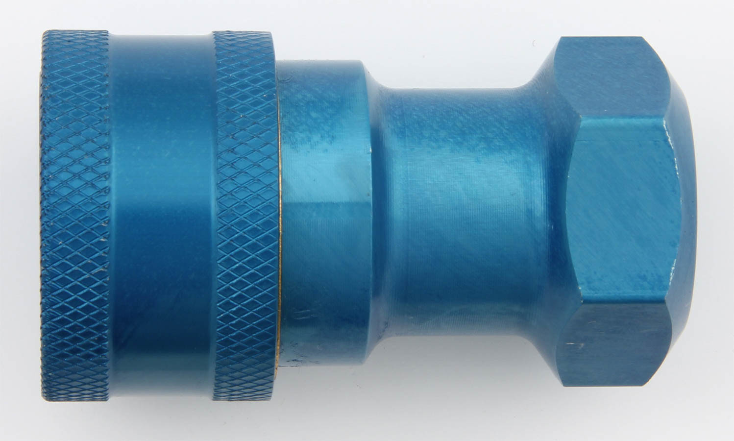 Aeroquip FBM3114 Fitting, Quick Disconnect, Radiator Refill Coupling, Female Half to 1/2 in NPT, Aluminum, Blue Anodize, Each