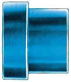 Aeroquip FBM3671 Fitting, Tube Sleeve, 6 AN, 3/8 in Tube, Aluminum, Blue Anodize, Pair