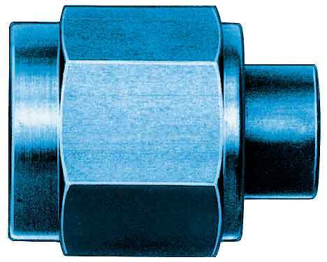 Aeroquip FBM3740 Fitting, Cap, 6 AN, Aluminum, Blue Anodize, Each