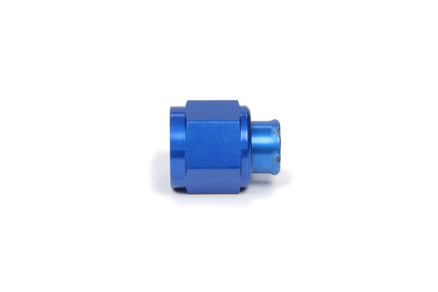 Aeroquip FBM3741 Fitting, Cap, 8 AN, Aluminum, Blue Anodize, Each