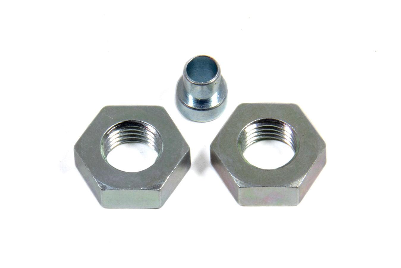 Aeroquip FCM2095 Bulkhead Fitting Nut, 3 AN, Steel, Natural, Pair