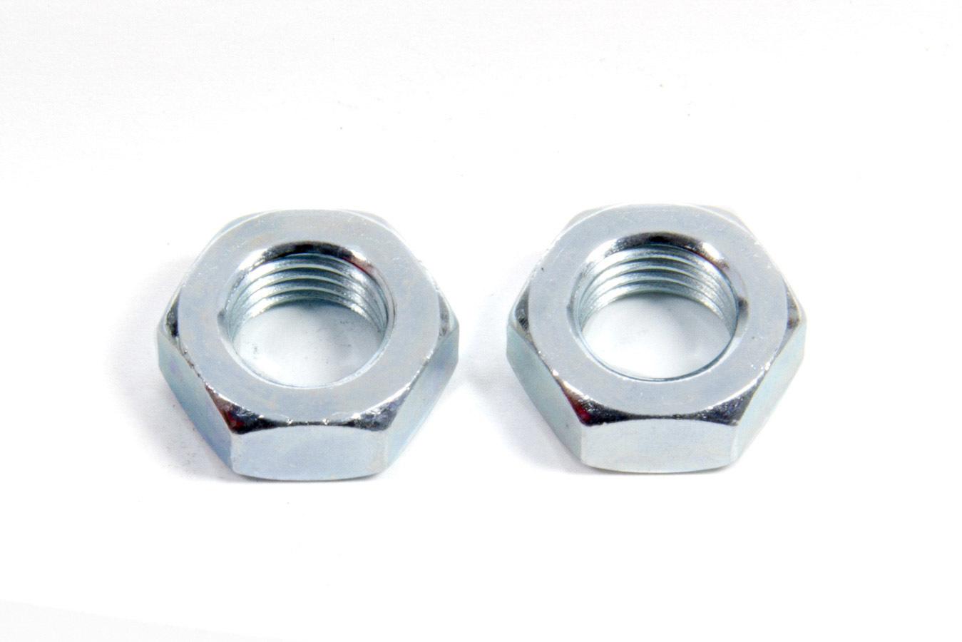 Aeroquip FCM2096 Bulkhead Fitting Nut, 4 AN, Steel, Natural, Pair