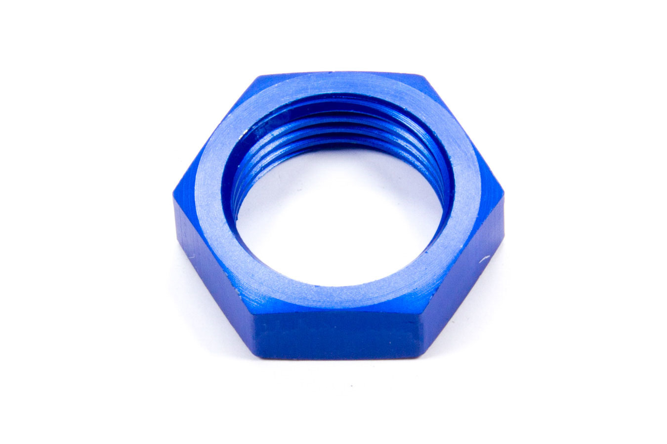 Aeroquip FCM2104 Bulkhead Fitting Nut, 10 AN, Aluminum, Blue Anodize, Each