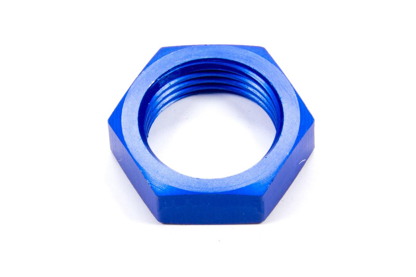 Aeroquip FCM2104 Bulkhead Fitting Nut, 10 AN, Aluminum, Blue Anodized, Each