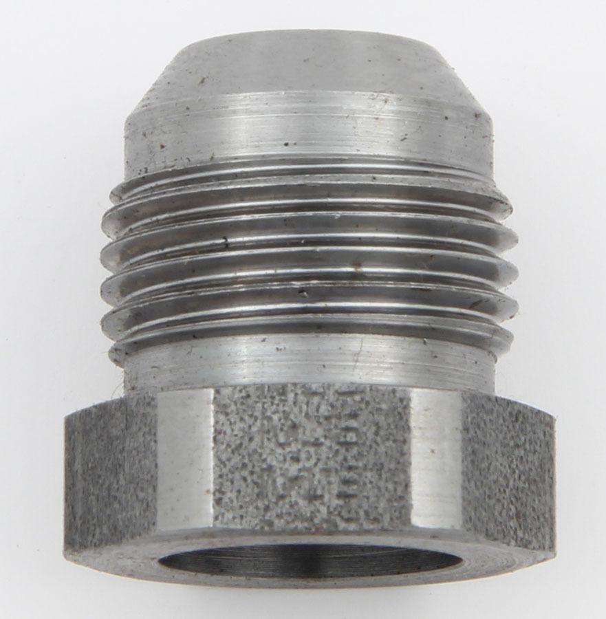 Aeroquip FCM2874 Bung, 8 AN Male, Weld-On, 1/2 in Diameter, Braze, Steel, Natural, Each