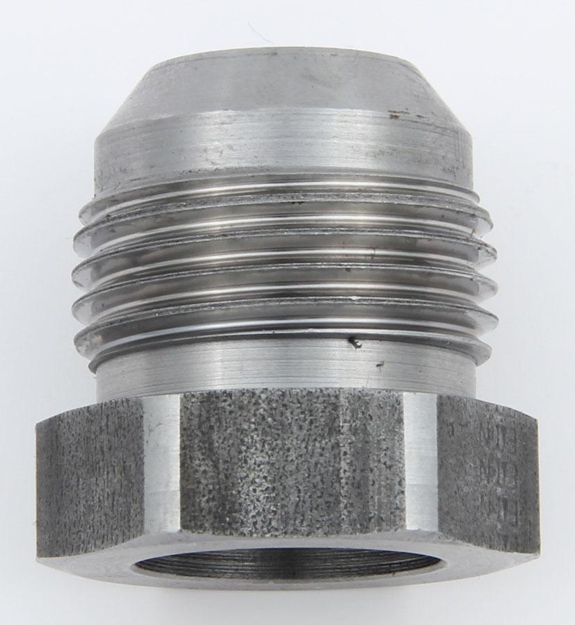 Aeroquip FCM2877 Bung, 12 AN Male, Weld-On, 3/4 in Diameter Base, Braze, Steel, Natural, Each
