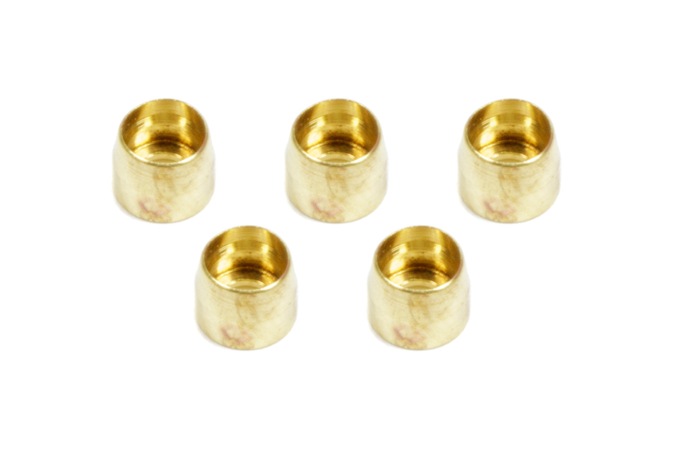 Aeroquip FCM3720 Compression Ferrule, 3 AN, Brass, PTFE Fittings, Set of 5