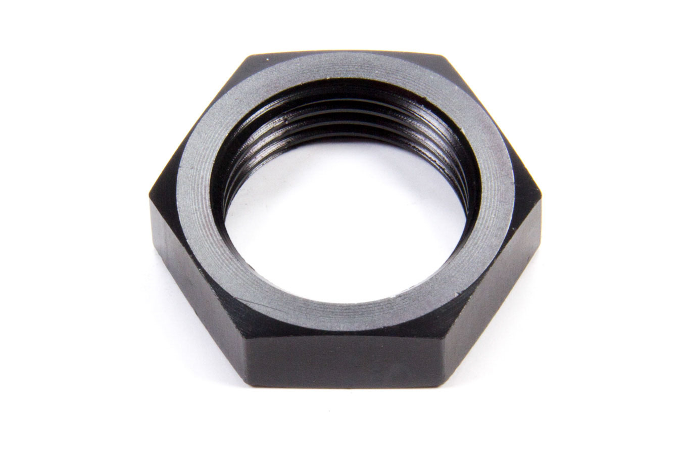Aeroquip FCM5105 Bulkhead Fitting Nut, 12 AN, Aluminum, Black Anodize, Each