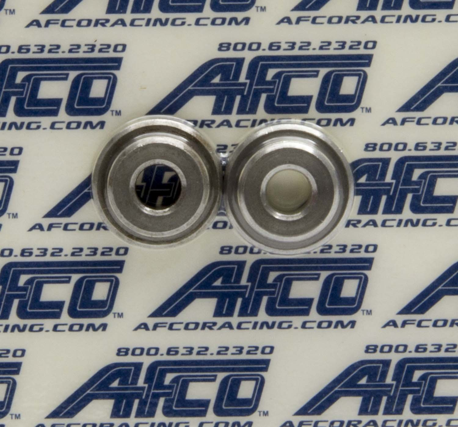 AFCO Racing Products 10174 Throttle Linkage Bushing, 2 Piece, 1/2 in Mounting Diameter, Steel, Natural, Universal, Pair