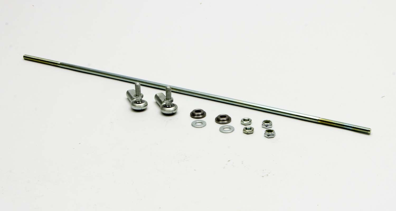 AFCO Racing Products 10175-18 Throttle Linkage, 18 in Long Rod, 2 Rod Ends, Hardware Included, Steel, Natural, Universal, Kit