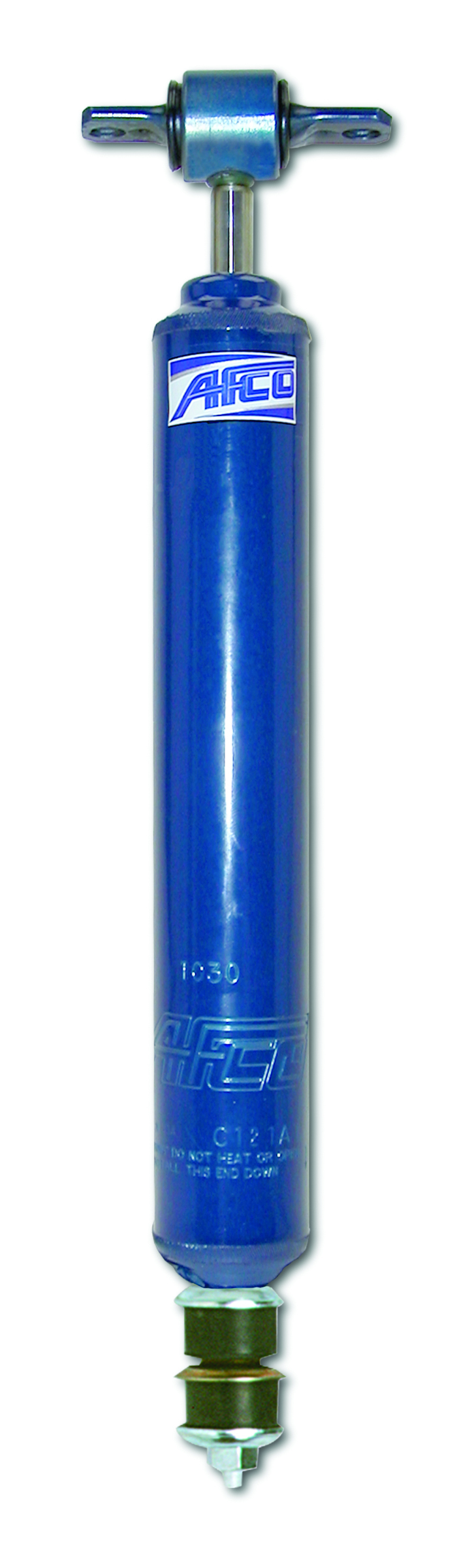AFCO Racing Products 1034 Shock, 10 Series, Twintube, 14.50 in Compressed / 22.50 in Extended, 2.02 in OD, 3-5 Valve, Steel, Blue Paint, GM F-Body 1970-81, Each
