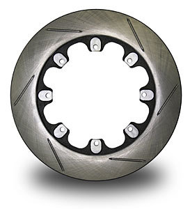 AFCO Racing Products 6640105 Brake Rotor, Pillar Vane, 11.750 in OD, 0.810 in Thick, 8 x 7.000 in Bolt Pattern, LH Slotted, Iron, Natural, Each