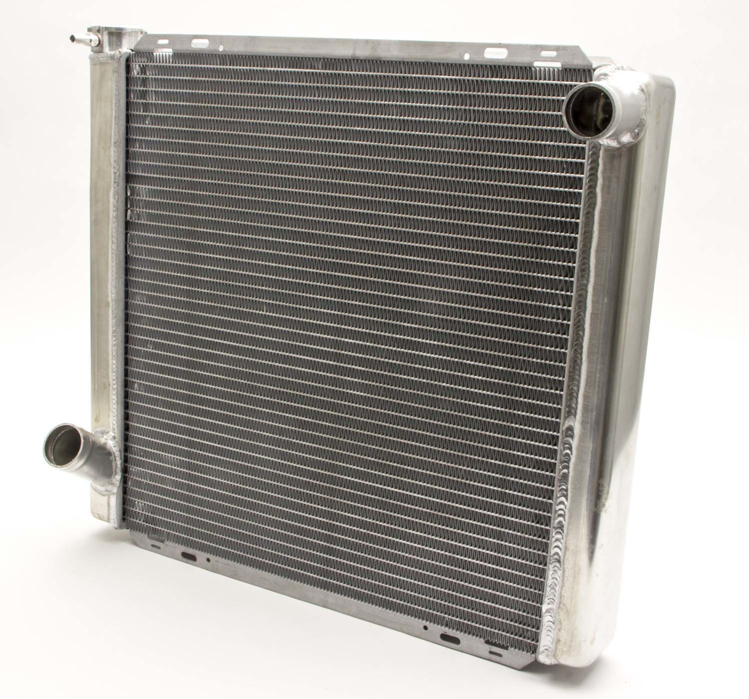 AFCO Racing Products 80100FN Radiator, 22-3/8 in W x 30 in H x 3 in D, Passenger Side Inlet, Driver Side Outlet, Aluminum, Natural, Each