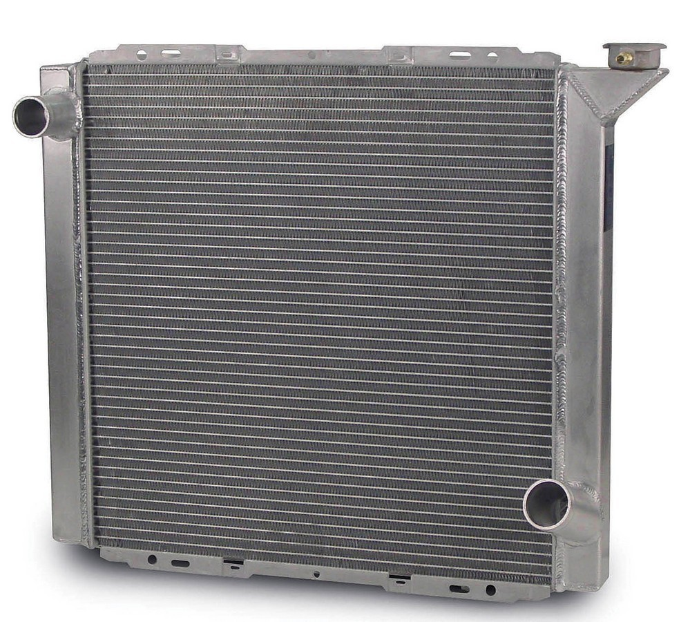AFCO Racing Products 80100LWN Radiator, Lightweight, 22-7/8 in W x 20 in H x 1-7/8 in D, Driver Side Inlet, Passenger Side Outlet, Aluminum, Natural, Each