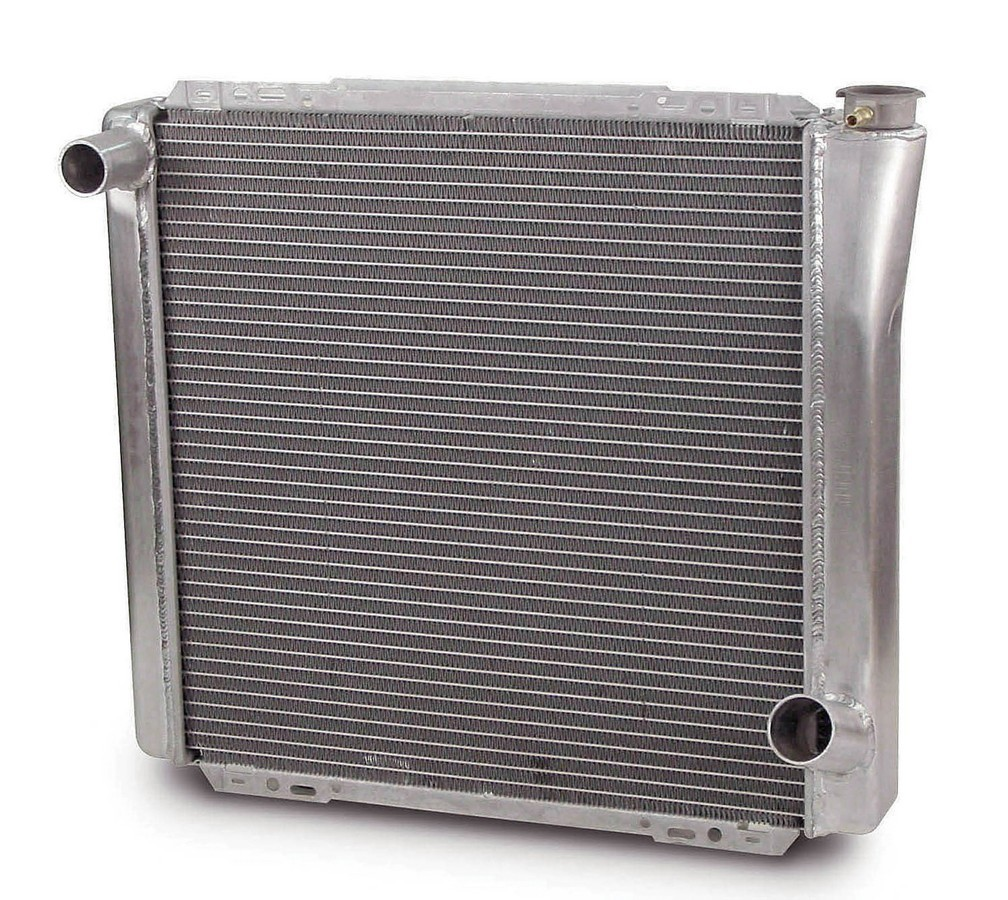 AFCO Racing Products 80100N Radiator, 22-3/8 in W x 20 in H x 3 in D, Driver Side Inlet, Passenger Side Outlet, Aluminum, Natural, Each