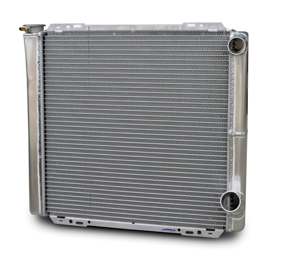 AFCO Racing Products 80100NDP Radiator, 22-1/4 in W x 30 in H x 3 in D, Passenger Side Inlet, Passenger Side Outlet, Aluminum, Natural, Each
