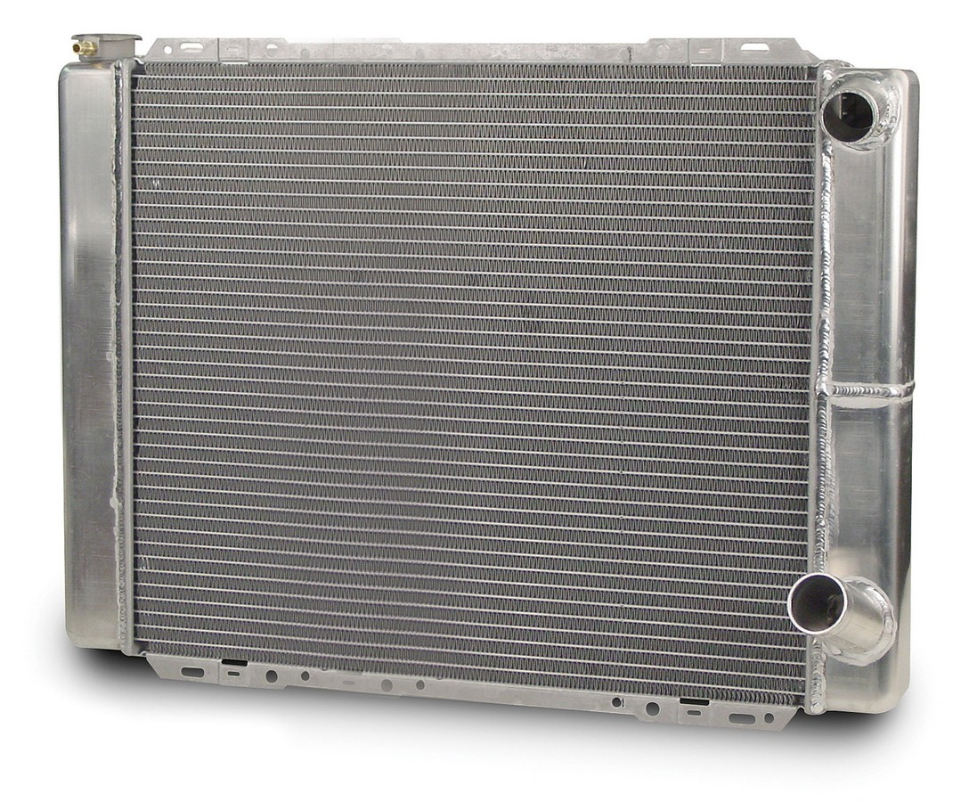 AFCO Racing Products 80101NDP Radiator, 27-1/2 in W x 20 in H x 3 in D, Passenger Side Inlet, Passenger Side Outlet, Aluminum, Natural, Each
