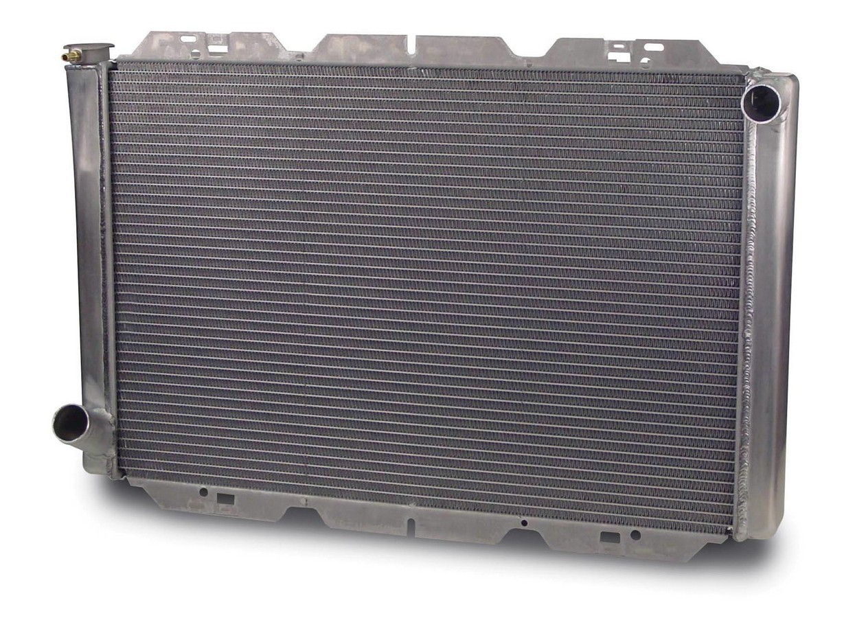 AFCO Racing Products 80102FN Radiator, 32 in W x 21 in H x 3 in D, Passenger Side Inlet, Driver Side Outlet, Aluminum, Natural, Each