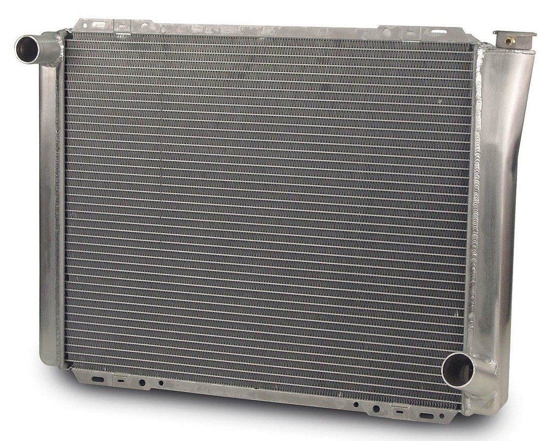 AFCO Racing Products 80103N Radiator, 26-3/4 in W x 20 in H x 3 in D, Driver Side Inlet, Passenger Side Outlet, Aluminum, Natural, Each