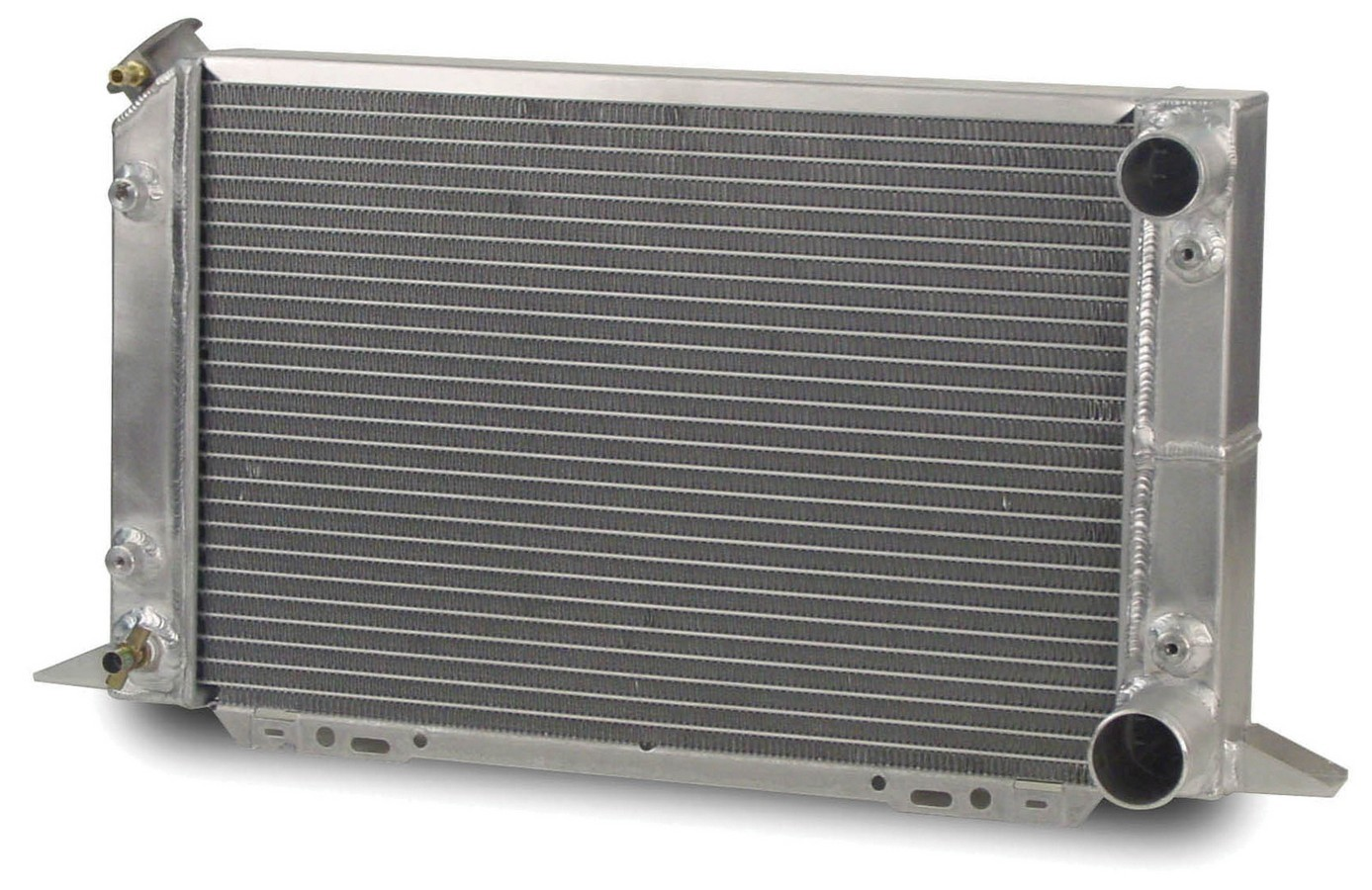 AFCO Racing Products 80104N Radiator, Scirocco, 21-1/2 in W x 12-5/8 in H x 3 in D, Passenger Side Inlet, Passenger Side Outlet, Aluminum, Natural, Each