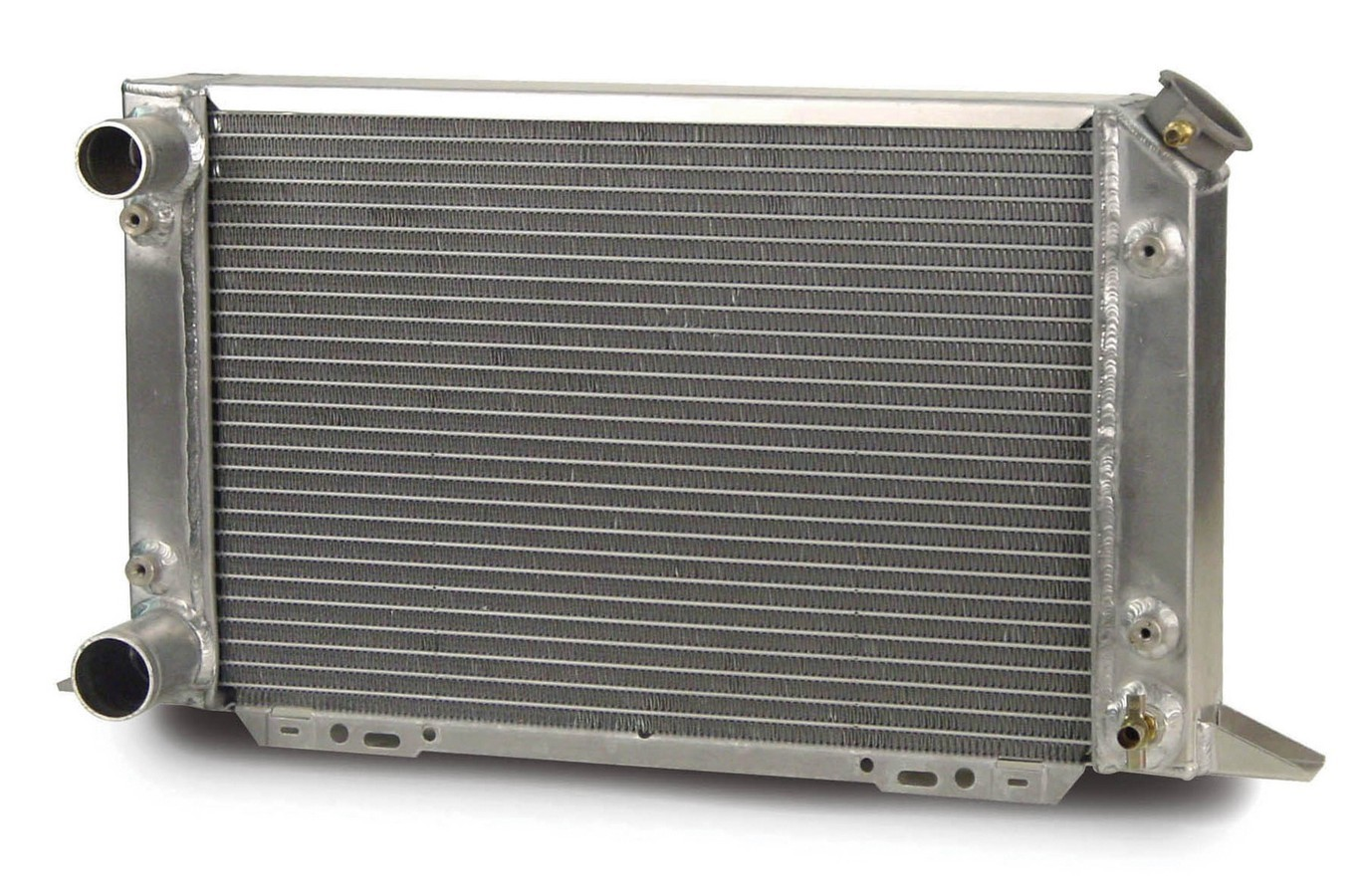 AFCO Racing Products 80105N Radiator, Scirocco, 21-1/2 in W x 12-5/8 in H x 3 in D, Driver Side Inlet, Driver Side Outlet, Aluminum, Natural, Each