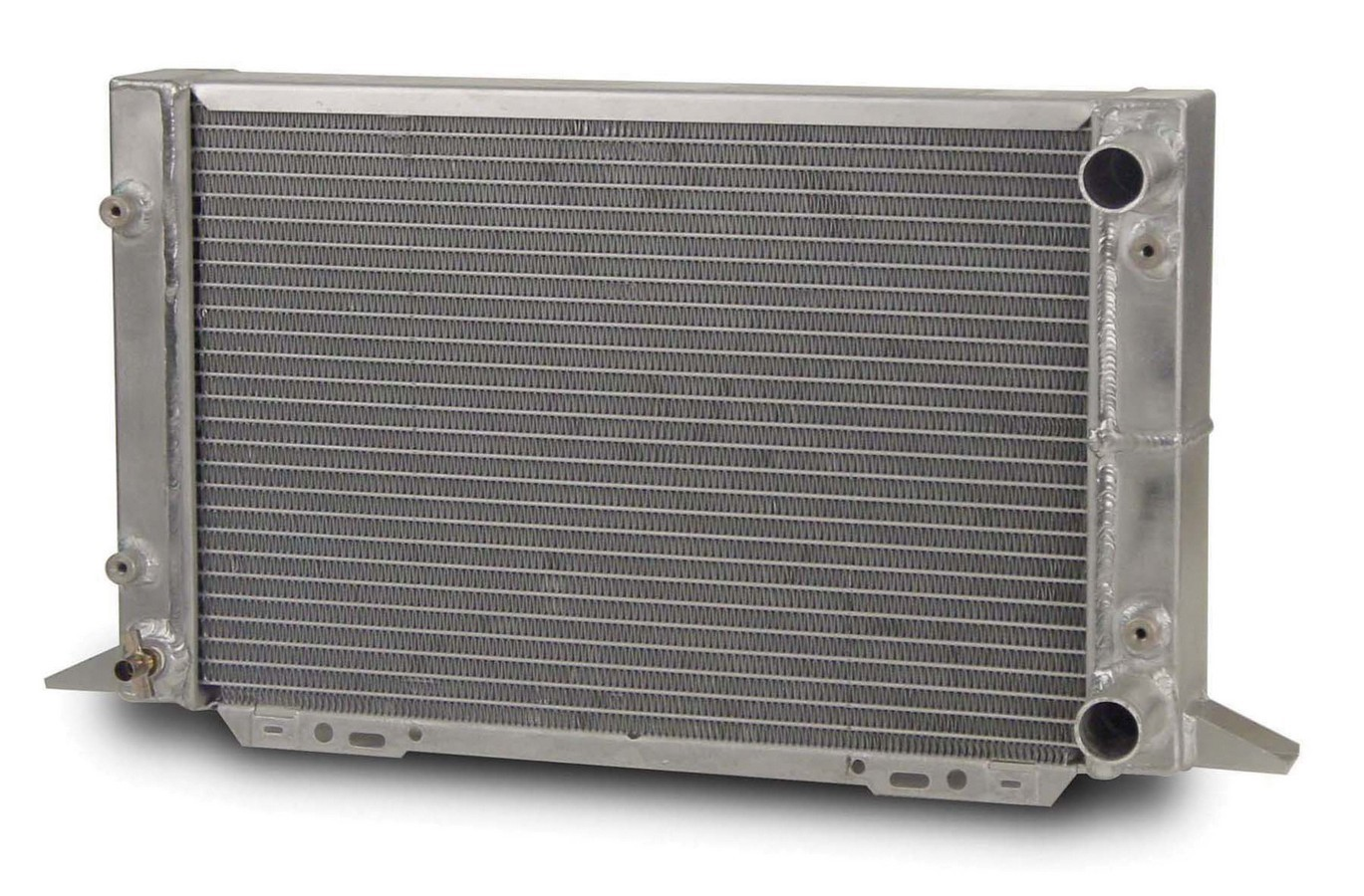 AFCO Racing Products 80107N Radiator, Scirocco, 21-1/2 in W x 12-5/8 in H x 3 in D, Passenger Side Inlet, Passenger Side Outlet, Aluminum, Natural, Each