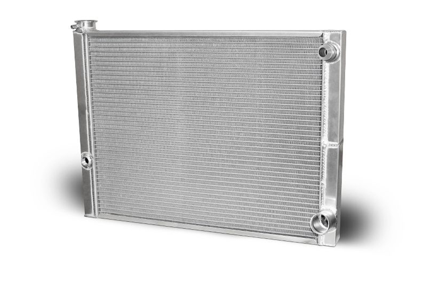 AFCO Racing Products 80185NDP-16 Radiator, 27-1/2 in W x 20 in H x 2 in D, Dual Pass, Passenger Side Inlet, Passenger Side Outlet, Aluminum, Natural, Each