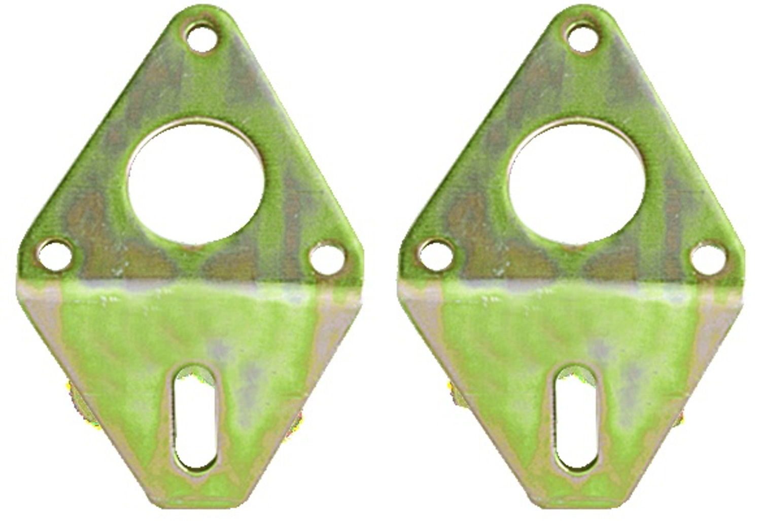 AFCO Racing Products 80651 Motor Mount, Bolt-On, Steel, Cadmium Plated, Front, Chevy V8, Pair
