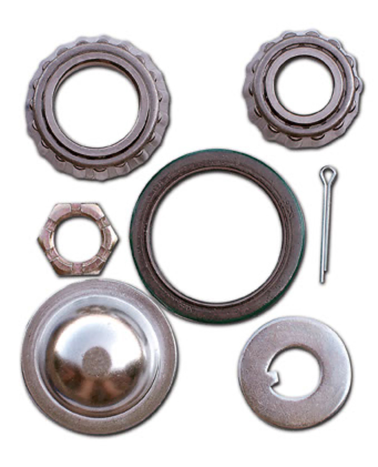 AFCO Racing Products 9851-8551 Wheel Bearing Kit, Inner and Outer, Hub Seal/Spindle Nut/Dust Cap/Cotter Pin, Steel, Hybrid, Kit