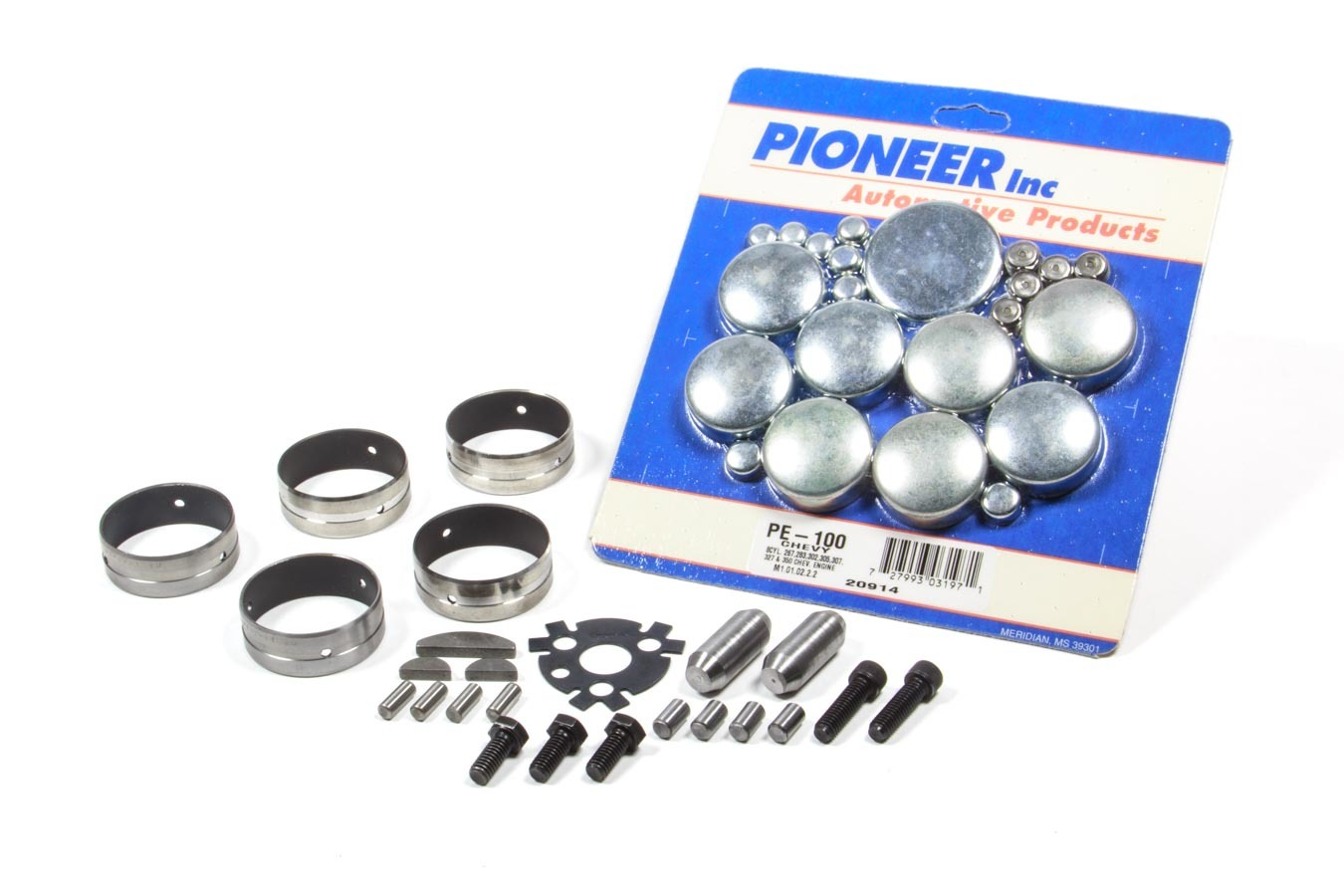 AFM Performance 20013 Engine Block Hardware, Camshaft Bearings, Dowel Pins, Freeze Plugs, Keys, Small Block Chevy, Kit