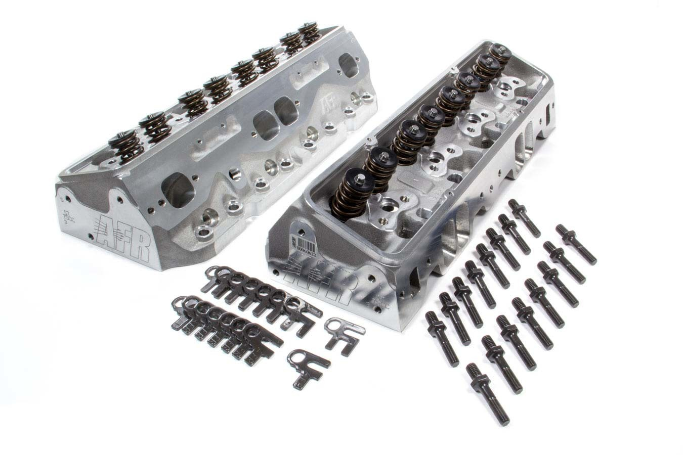 Air Flow Research 0911 Cylinder Head, Eliminator Street, Assembled, 2.020 / 1.600 in Valves, 180 cc Intake, 75 cc Chamber, 1.290 in Springs, Aluminum, Small Block Chevy, Pair